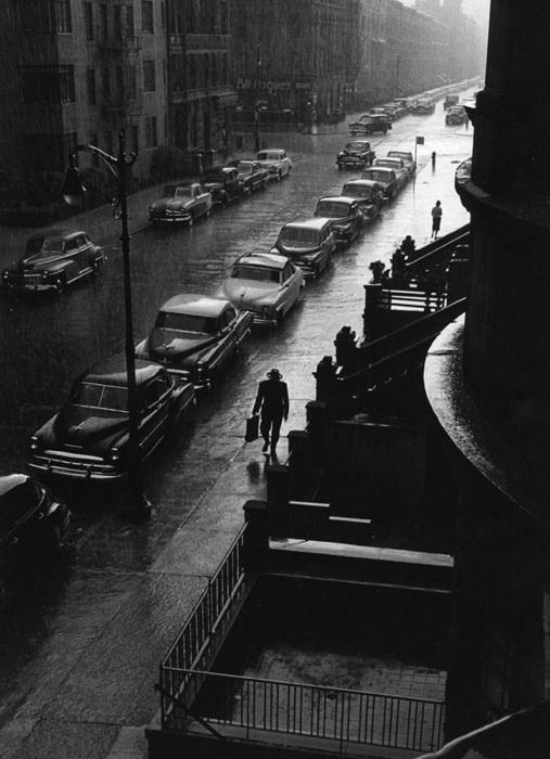 Ruth Orkin, Man in Rain, New York City, 1952